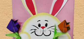 Peek -a-boo bunny Canvas