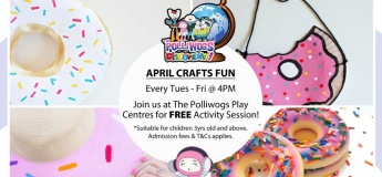 April Serious Fun Discovery - Larry's Donut Crafts at The Polliwogs@Eastpoint Mall