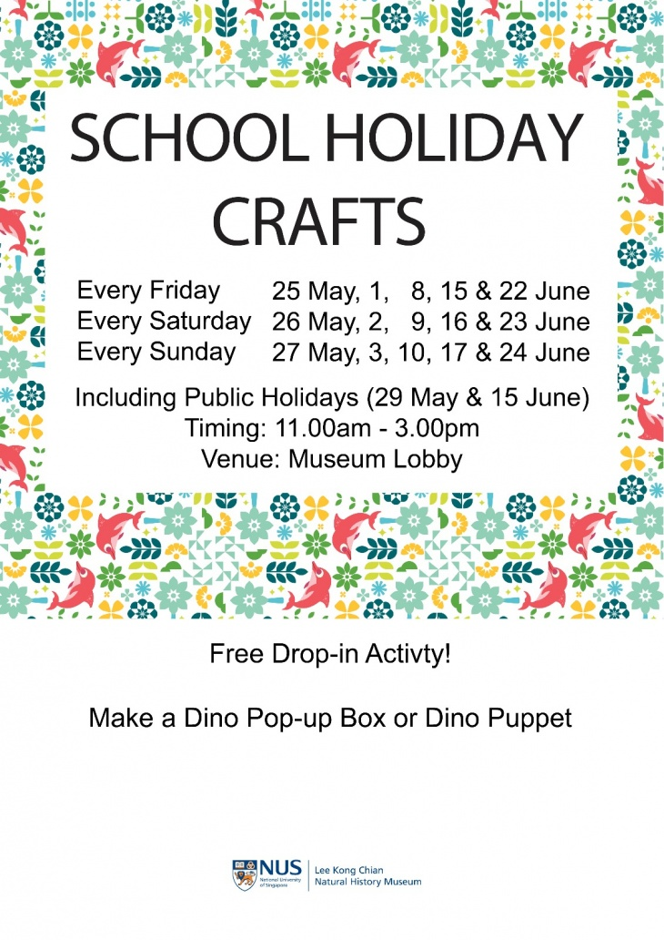 School Holiday Craft@Lee Kong Chian Natural History Museum