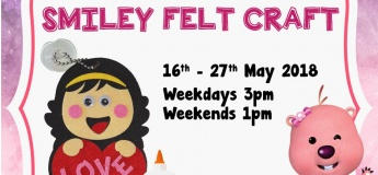 Mommy's May Daily Class: Smiley Felt Craft