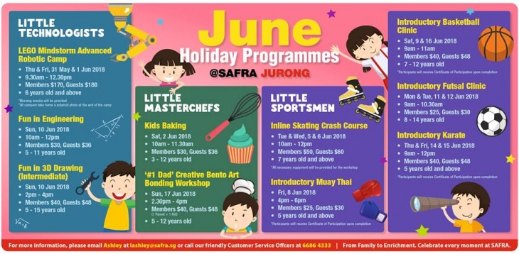 June Holiday Programmes@SAFRA Jurong
