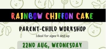 Rainbow Chiffon Cake - Parent & Child