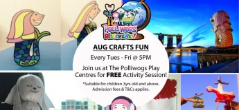 August Serious Fun Discovery - Fun Merlion Crafts at The Polliwogs@Eastpoint Mall