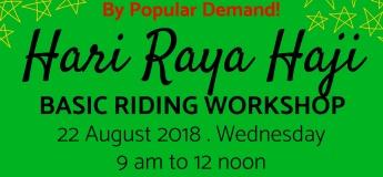 Hari Raya Haji Basic Riding Workshop