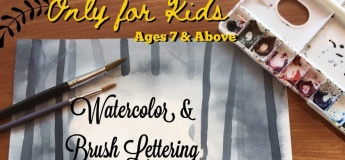 Watercolor & Brushlettering Course for Kids (6 Sessions)