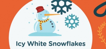 Icy White Snowflakes