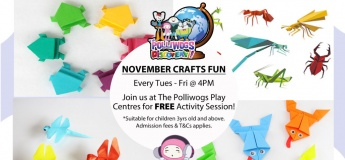 November Serious Fun Discovery - Insect Origami at The Polliwogs@Eastpoint Mall