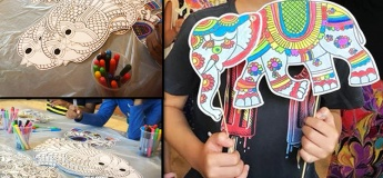 Paper Puppet Making and Wood Block Printing