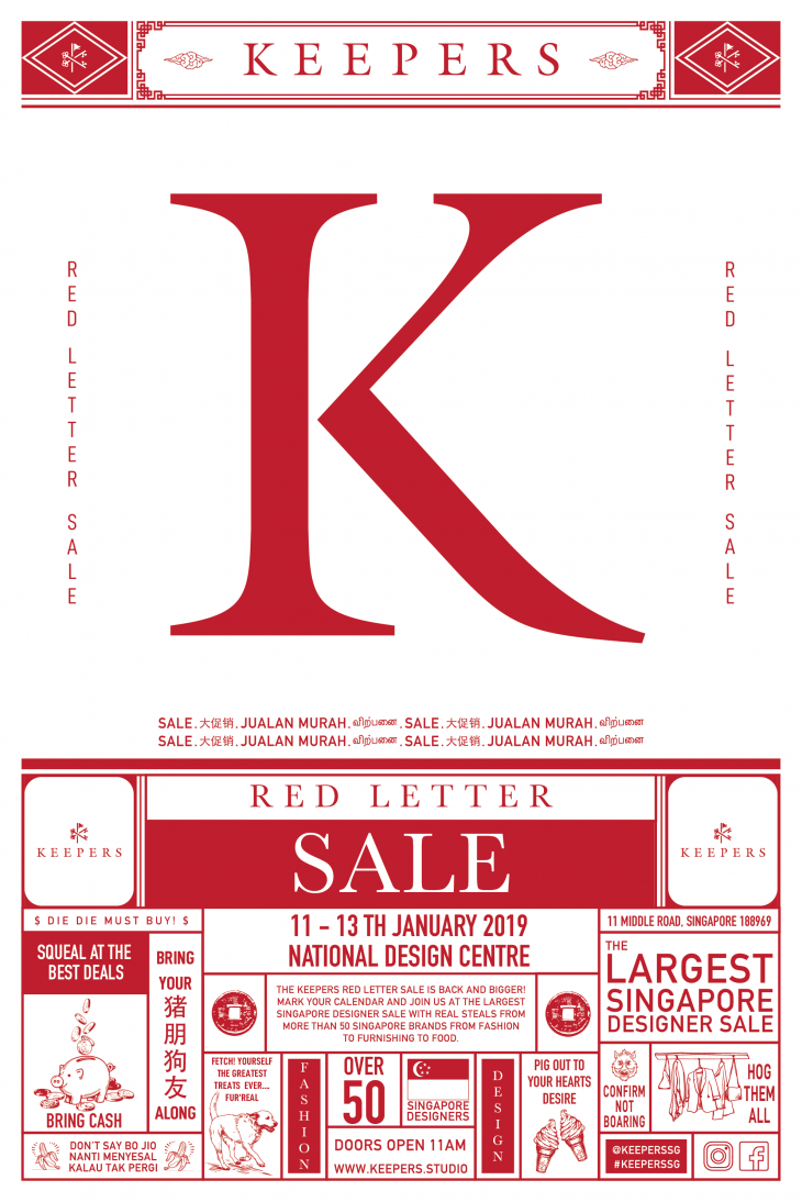 The Keepers Red Letter Sale 2019