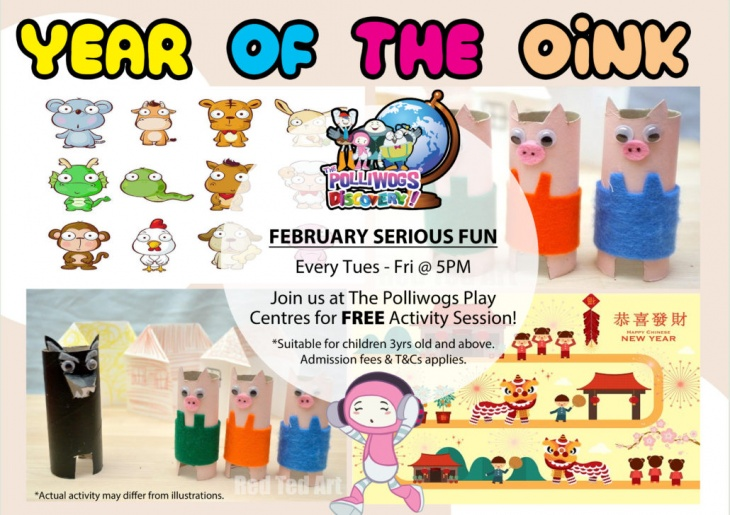 February 2019 Serious Fun Discovery - CNY Crafts at The Polliwogs@VivoCity