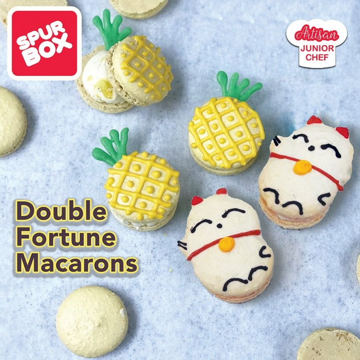 Double Fortune Pineapple Macarons